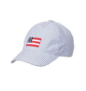 Seersucker Flag Cap
