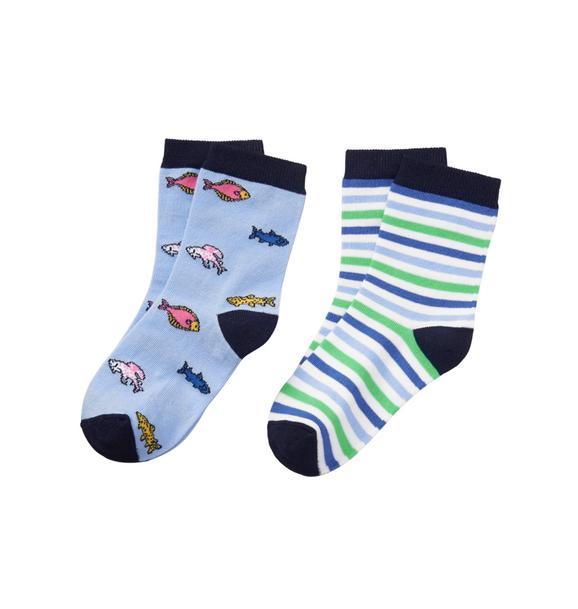 Fish & Stripe Sock 2-Pack