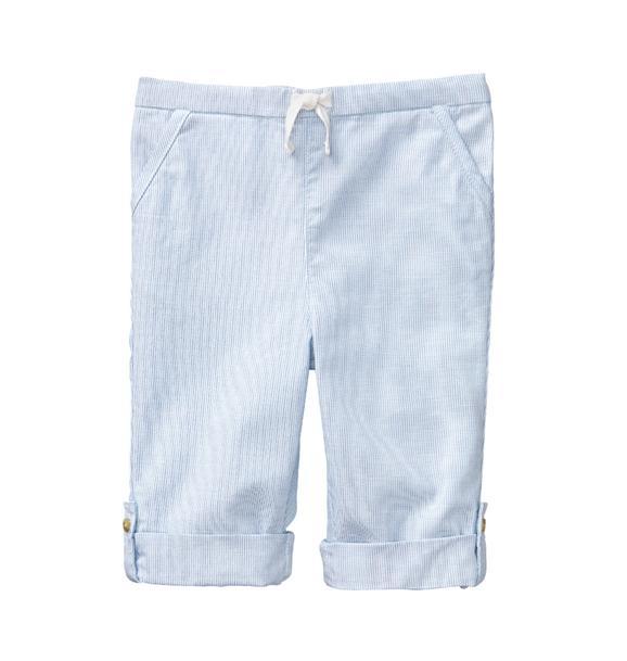 Striped Roll-Cuff Pant