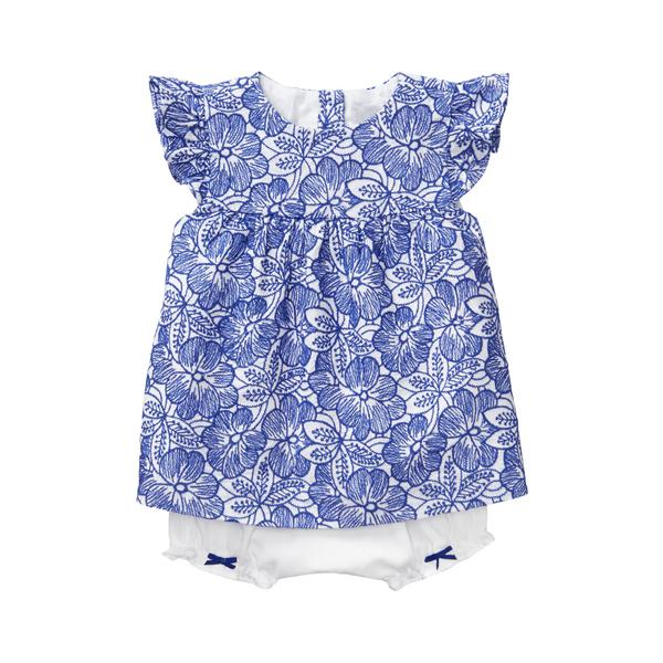 Sale Royal Blue Floral Eyelet Floral Set by Janie and Jack
