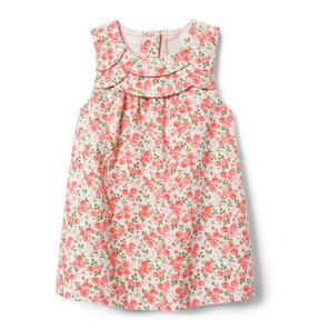Corduroy Floral Dress