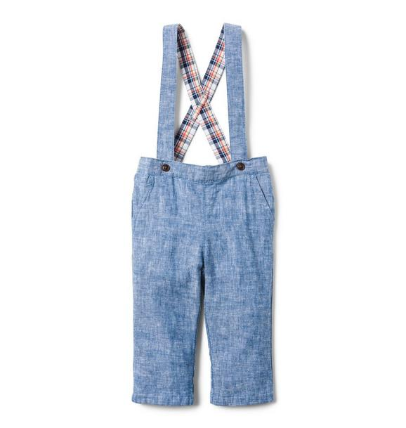 Chambray Suspender Pant