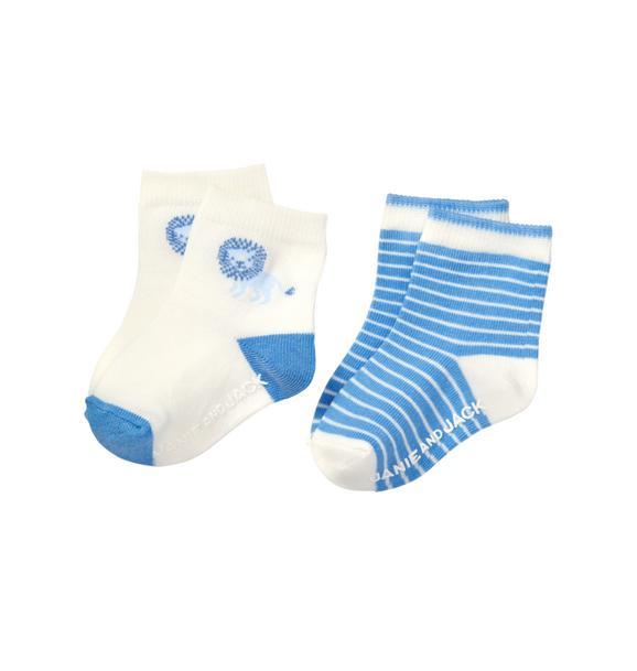Lion & Stripe Sock 2-Pack