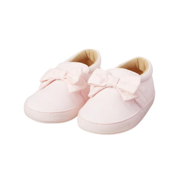 Slip-On Bow Crib Shoe