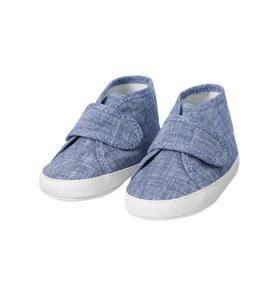 Chambray High-Top Crib Shoe