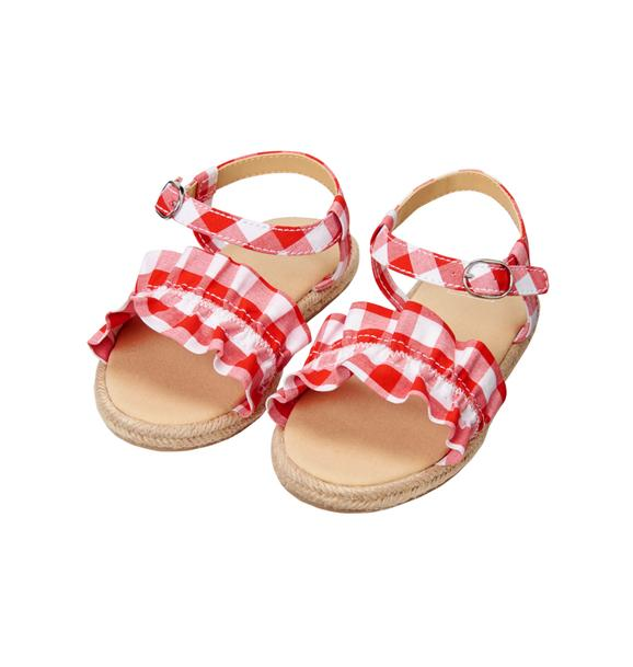 Gingham Ruffle Sandal