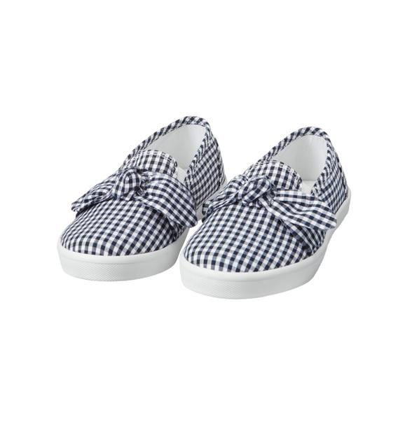Gingham Bow Slip-On Sneaker