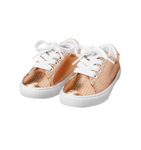 Metallic Lace-Up Sneaker
