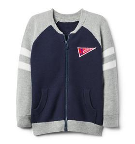 Varsity Zip Cardigan