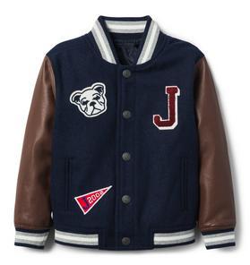Wool Varsity Letterman Jacket