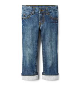 Jersey Cuffed Jean