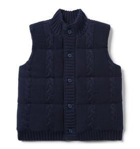 Sweater Puffer Vest