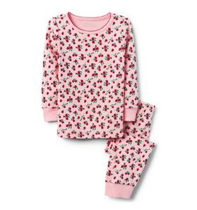 Rose Print Pajama Set