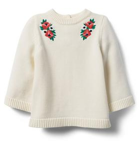 Embroidered Bloom Sweater