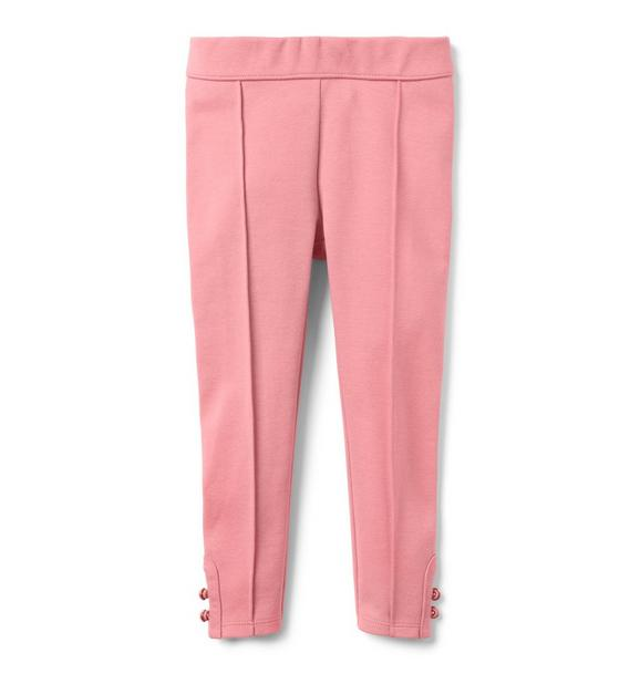 Button-Cuff Ponte Pant