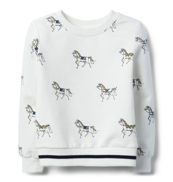 Horse Print Pullover