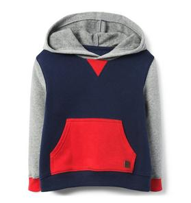 Colorblocked Hooded Sweatshirt
