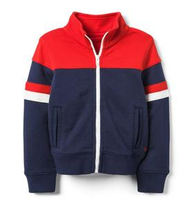Colorblocked Track Jacket