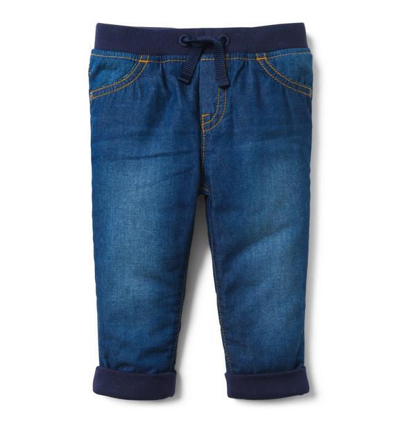 Chambray Cuffed Pant
