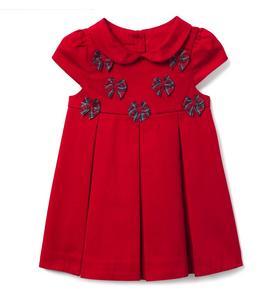 Pleated Bow Dress