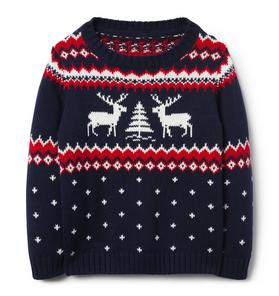 Reindeer Crewneck Sweater