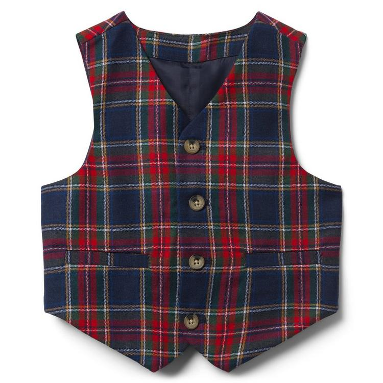 553419596aa1 Boy Navy Plaid Tartan Suit Vest by Janie and Jack