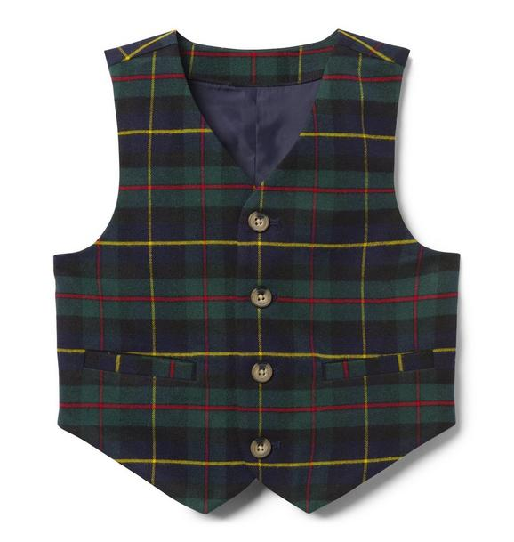 Plaid Suit Vest