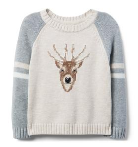 Deer Raglan Crewneck