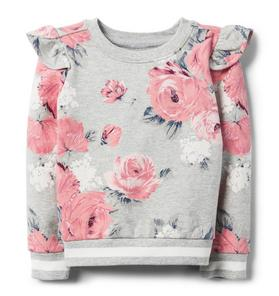 Floral Ruffle Pullover