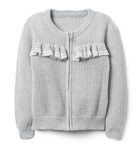 Ruffle Zip Sweater
