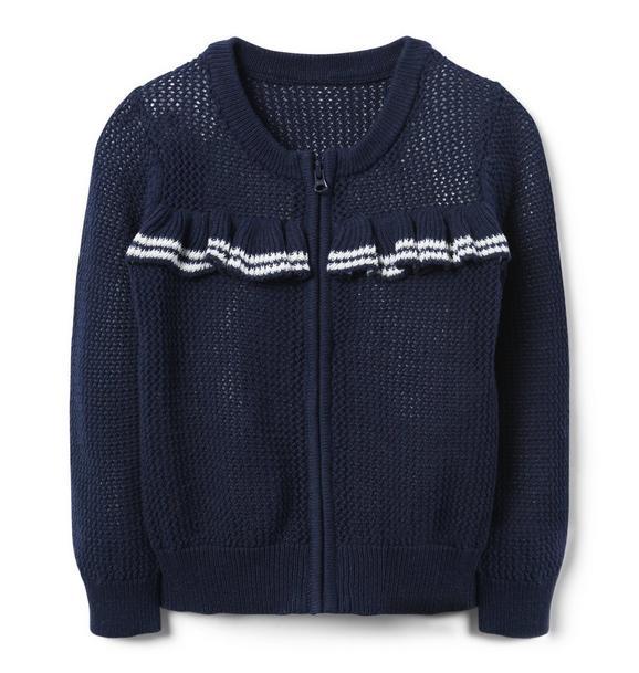 Ruffle Zip Sweater