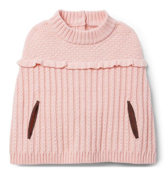 Ruffle Sweater Cape