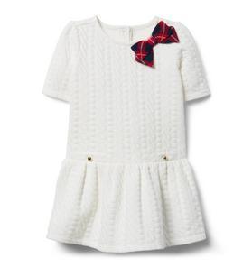 Textured Dropwaist Dress