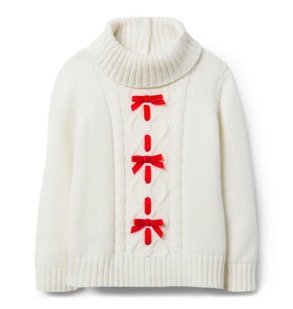 Turtleneck Bow Sweater
