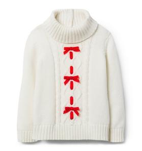 Turtleneck Bow Sweater