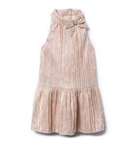 Metallic Dropwaist Dress