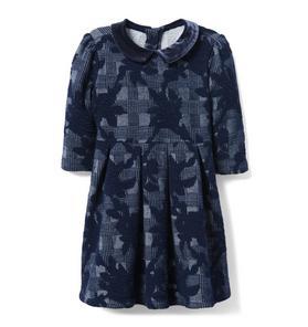Printed Jacquard Dress