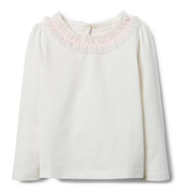Ruffle Collar Top