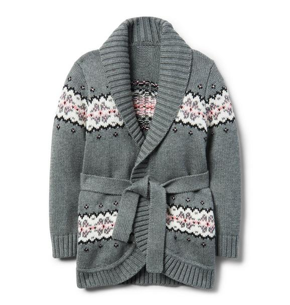 Fair Isle Wrap Cardigan