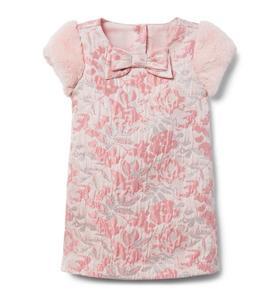 Metallic Floral Jacquard Dress