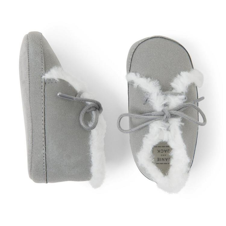 3bc02dbef2e66 Accessories Cloud Grey Chukka Crib Shoe by Janie and Jack
