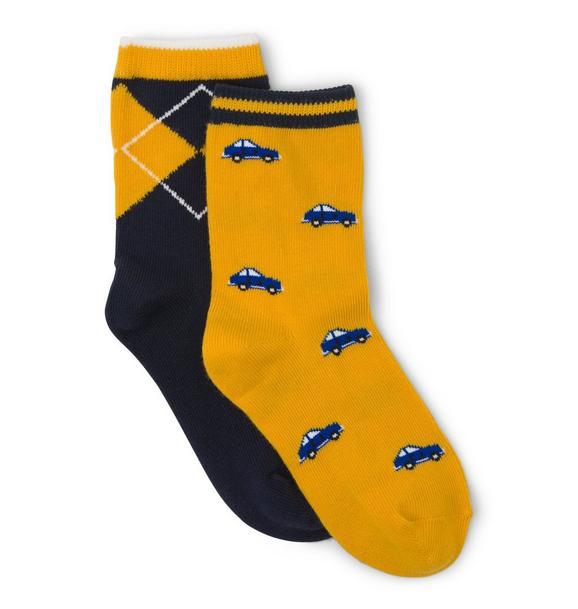 Car & Argyle Sock 2-Pack
