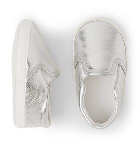 Metallic Slip-On Crib Shoe