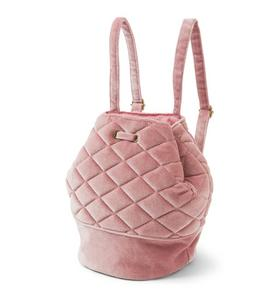 Velvet Quilted Backpack