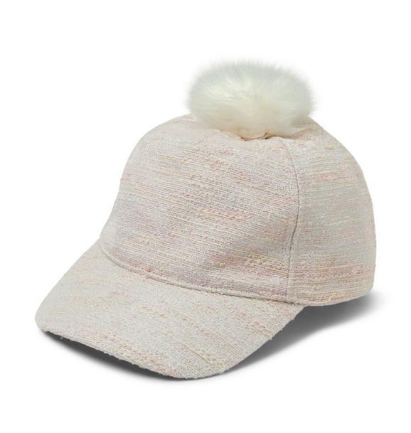 Bouclé Pom-Pom Cap