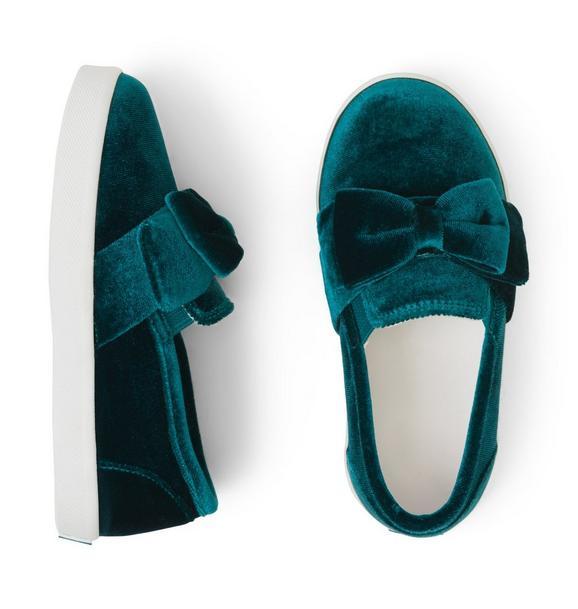 Velvet Slip-On Sneaker