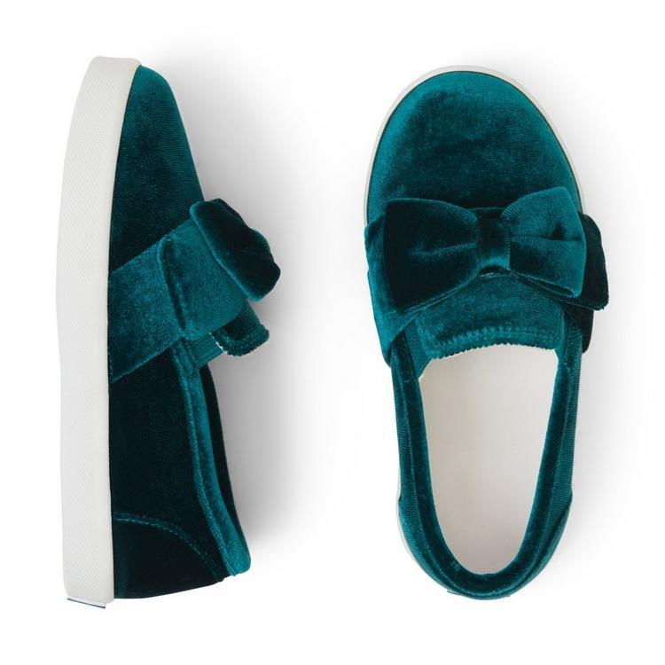 Velvet Slip On Sneaker