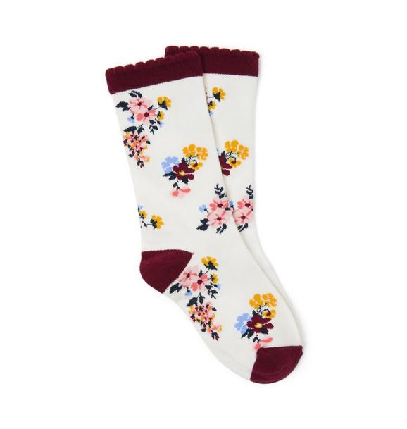 Floral Boot Sock