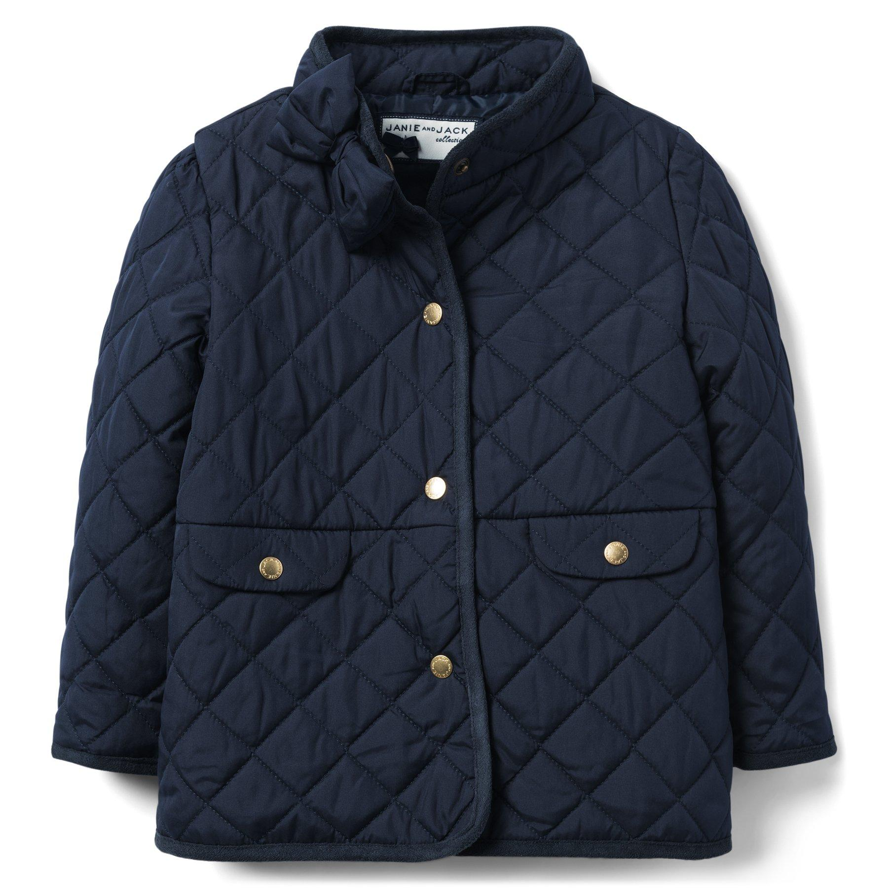 Janie And Jack Girls Quilted Peplum Basic Jacket Coat $79 Choose Color and Size