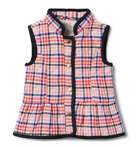 Quilted Plaid Vest